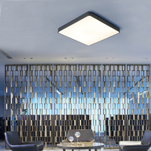 Modern Ultra-thin LED Ceiling Lamps Square Round Black/white Lighting for Home Decoration