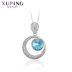 Biżuteria Xuping prostota śliczny europejski styl wisiorek naszyjniki z kryształami dla kobiet walentynki prezenty M21-30188