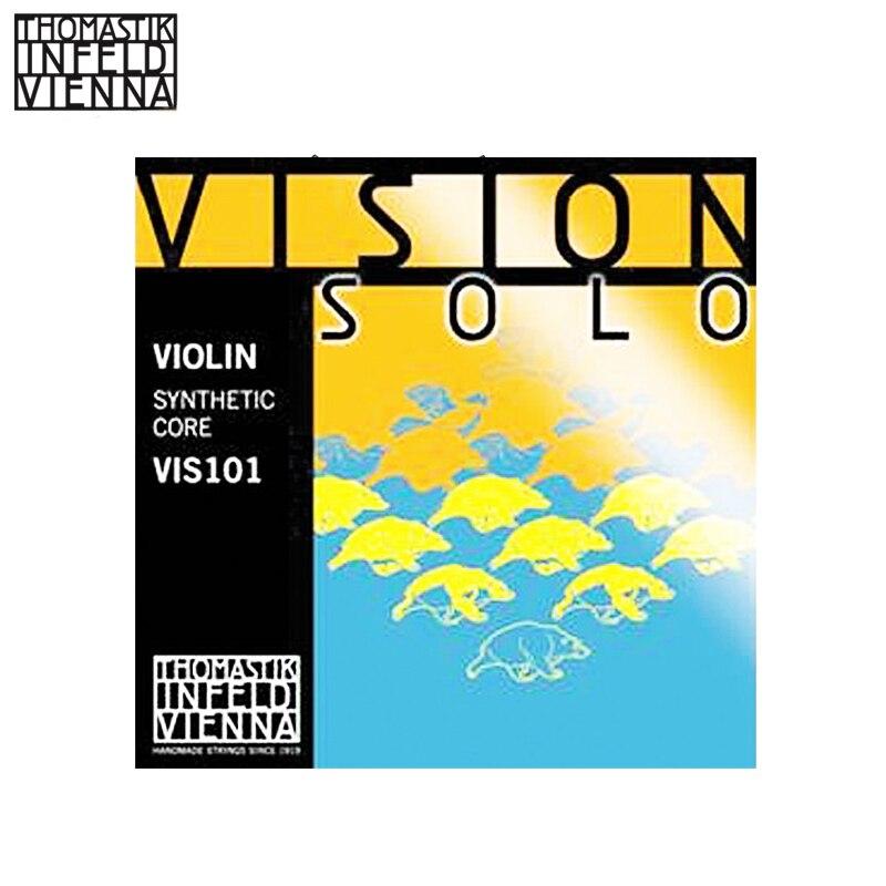 Thomastik VIS101 Vision Solo 4/4 cordes de violon serties d'argent D, argent G cordes enroulées ensemble complet (G, D, A, E)