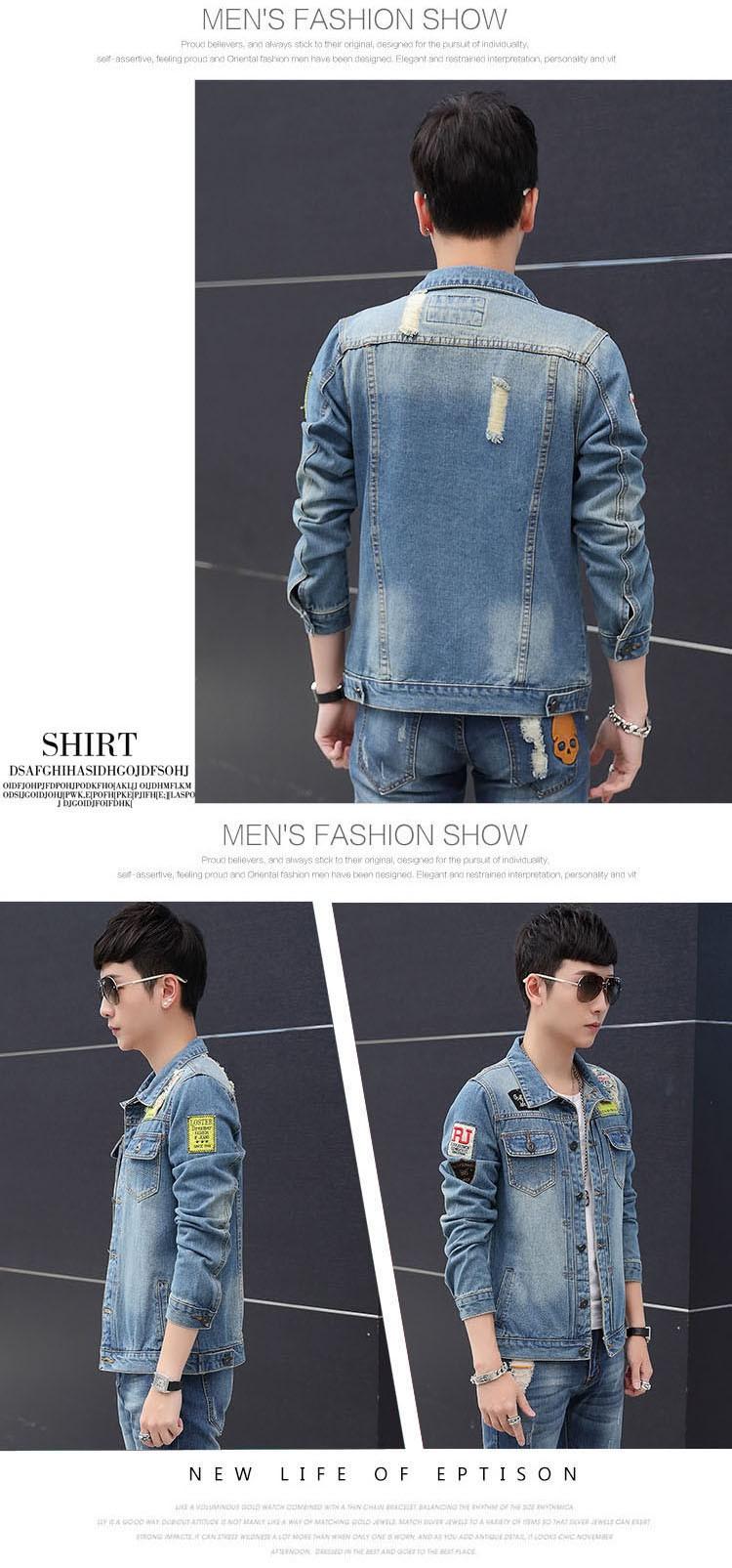 Men's Denim Jacket high quality fashion Jeans Jackets Slim fit casual streetwear Vintage Mens jean clothing Plus Size M-5XL (7)