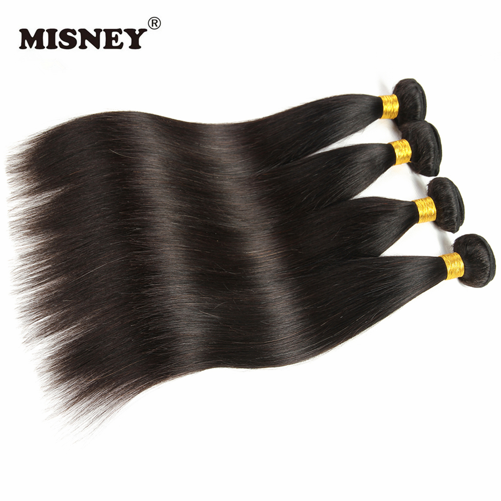 Cheap 4 Bundles Brazilian Straight Human Hair Extensions Healthy Virgin Hair Weaving Natural Unprocessed Natural Black Color