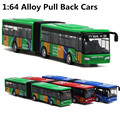 1 : 64 liga de carros, Alta simulação de aparência de brinquedo dupla ônibus, Função, Frete grátis
