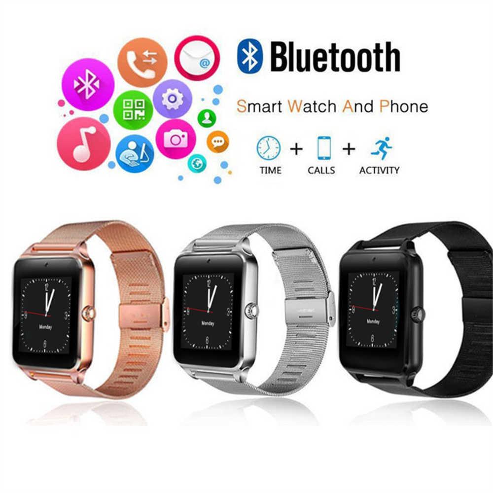 2019 OGEDA нержавеющая сталь GT08 Смарт часы es 2 г вызова карты CD Поддержка Bluetooth Android и iOS светодиодные «Умные» часы Z60