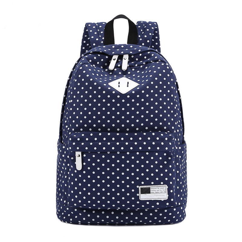 e4d6b565df67 Корейский печати холст рюкзак Для женщин Школьные ранцы для ...