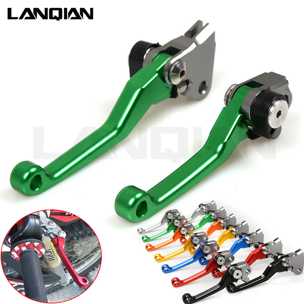 CNC Dirt Bike Pivot Lever For KAWASAKI KX65 KX85 2001-2017 / KX125 KX250 2000-2008 Motorcycle Brake Clutch Lever KX 65 85 125 cnc pivot brake clutch lever for kawasaki kx65 kx85 kx125 kx250 kx250f new