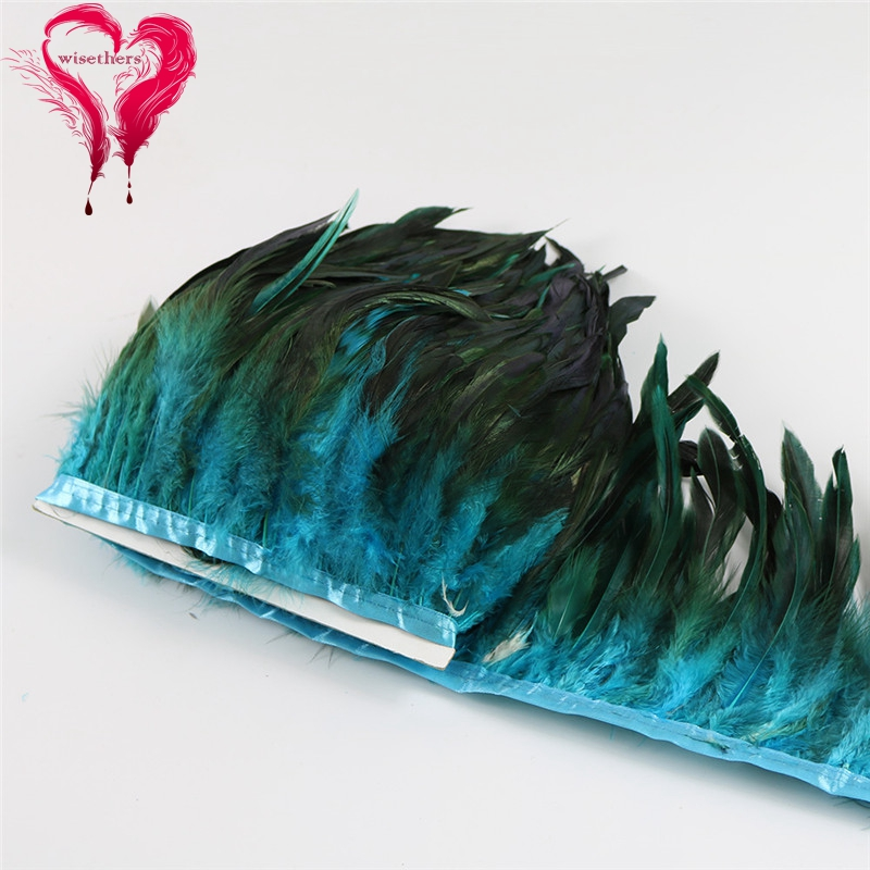 6 turquoise rooster feather trims 4