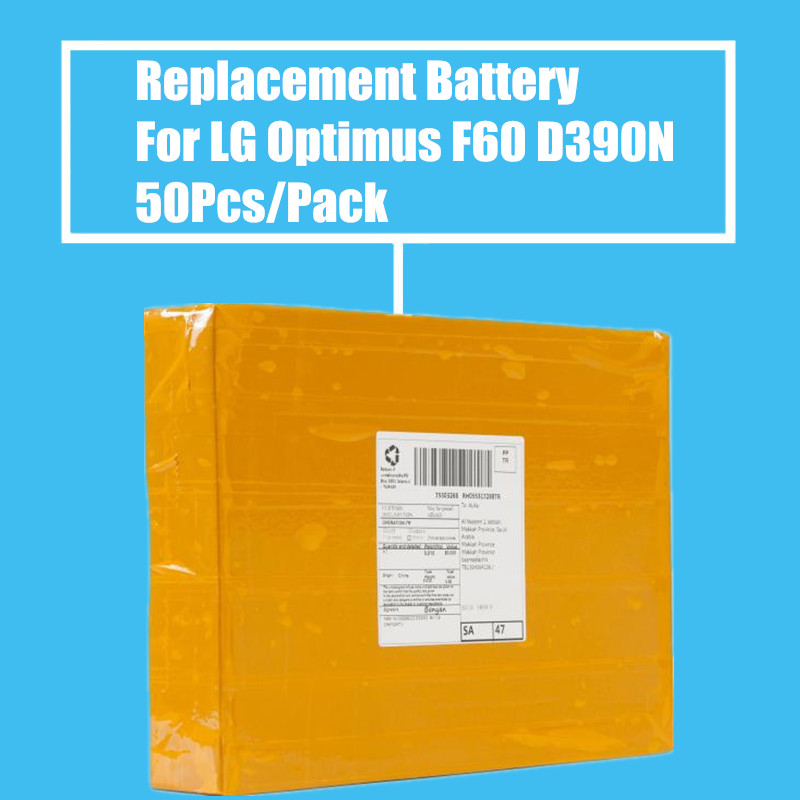 New Arrival 50Pcs/Pack <font><b>2100mah</b></font> Replacement <font><b>Battery</b></font> For <font><b>LG</b></font> Optimus F60 D390N LS660 LS660P High Quality image