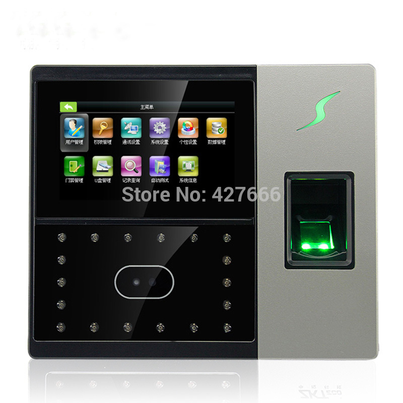 ZK Touch Screen Face Recognition Staff Attendance System Fingerprint Time Clock With Access Control Terminal IFace702