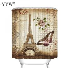 1pcs New Curtain Colorful Bath Screens Shower Curtains Home Eco-Friendly Peva Retro Butterfly High Quality Washable Decor