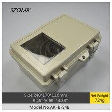 1 шт. szomk электронный diy водонепроницаемый корпус 240x170x110 мм пластиковая коробка с шарниром Лидер продаж Водонепроницаемая проектная коробка