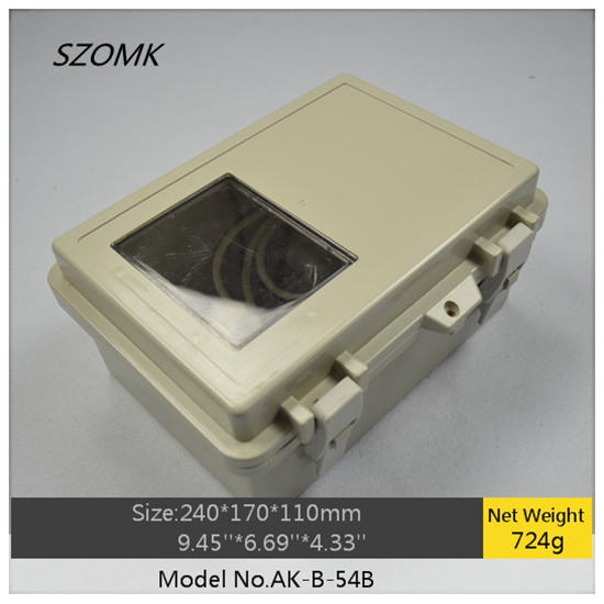1 piece szomk electronic diy waterproof enclosure 240x170x110mm plastic hinge box hot sales waterproof project box все цены