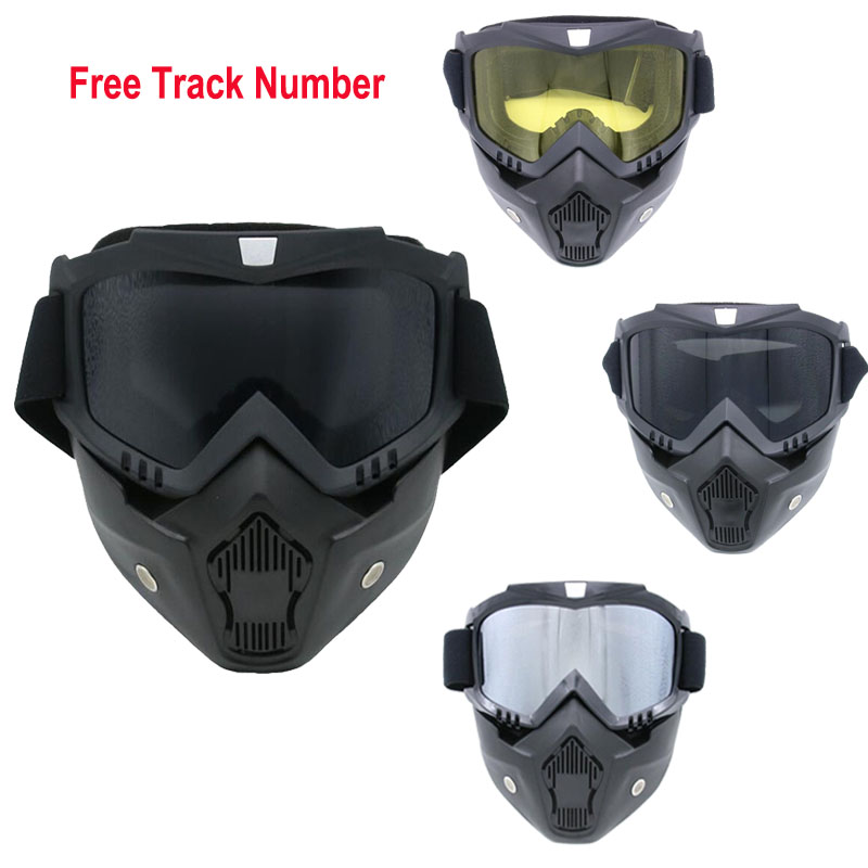 Masks Workplace Safety Supplies Energetic Hot Outdoor Motorcycle Full Face Mask Goggles Nose Helmet Shield Anti Fog Eyewear