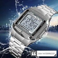 SKMEI, военные спортивные часы, водонепроницаемые мужские часы, Топ бренд, роскошные часы, электронные, светодиодный, цифровые часы для мужчин,...