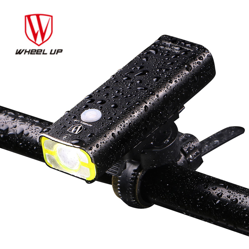 WHEEL UP USB Rechargeable Bike Front Handlebar Cycling Led Light with Battery Flashlight Torch Headlight Bicycle Accessories wheel up bike head light cycling bicycle led light waterproof bell head wheel multifunction mtb lights lamp headlight m3014
