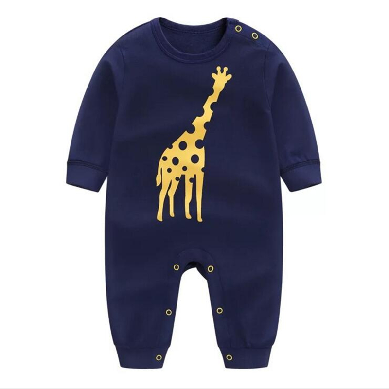 2018 New Baby Girls Rompers Spring Autumn long sleeved kids jumpsuit Newborn Pajamas Baby Boy clothing Cotton baby romper new baby boy s tattoo printed long sleeve patchwork cotton romper spring autumn newborn jumpsuit bebe toddler stitch costume