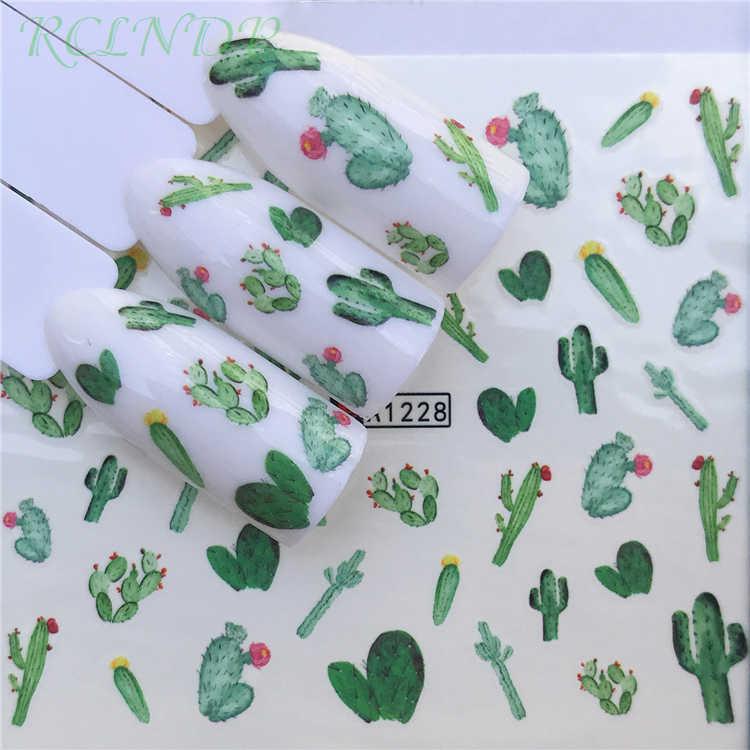 Наклейки для ногтей художественные украшения слайдер кактус клей дизайн