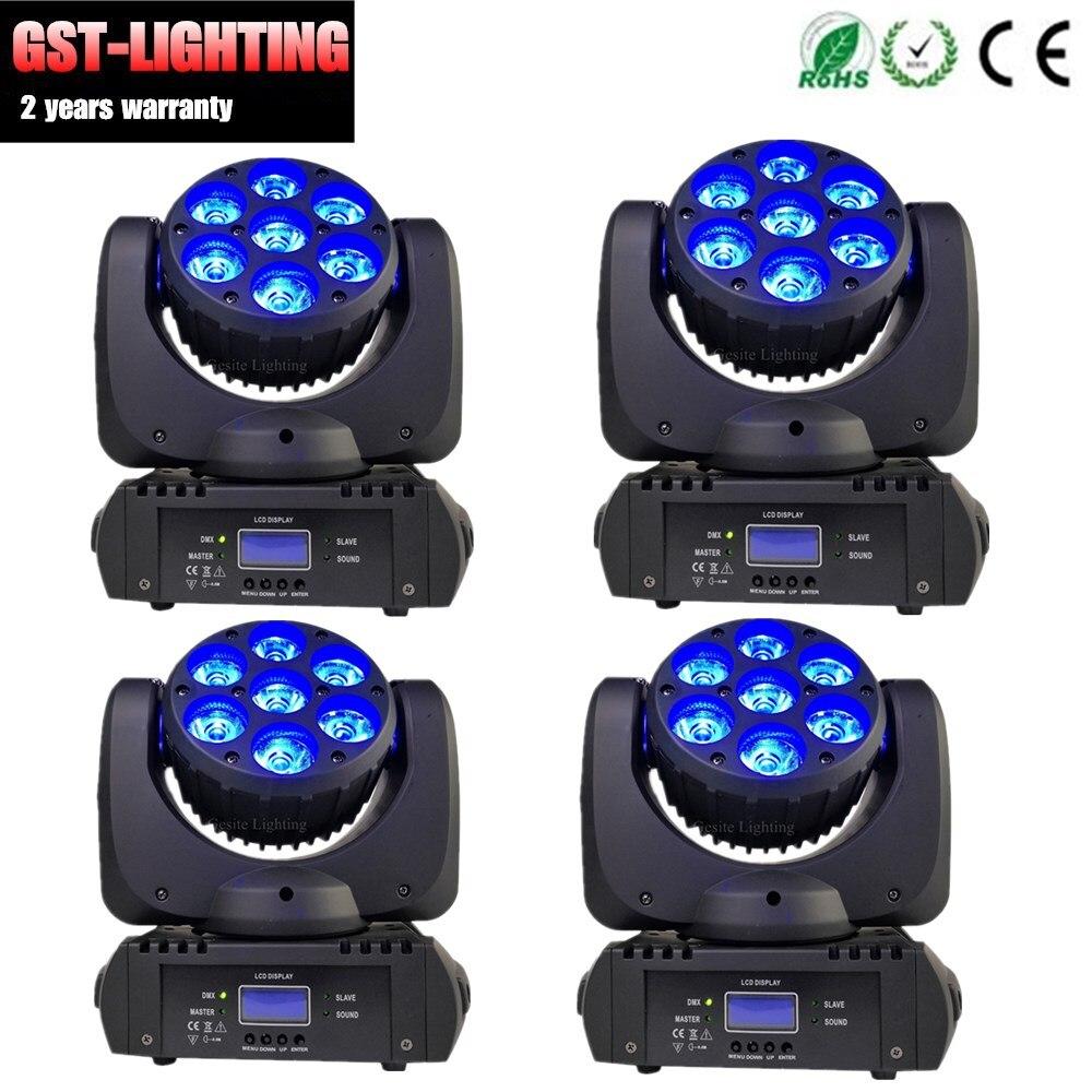 4 pcs lote profissional luz do estagio rgbw 4in1 mini luz da cabeca em movimento 7