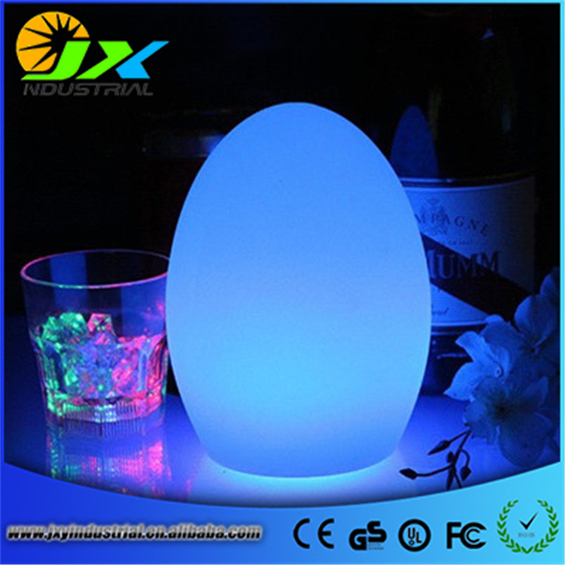 D14*H19cm Illuminated LED Egg Night light rechargeable led table lamp with remote control Bar Furniture Set Free Shipping 1pc free shipping remote control colorful modern minimalist led pyramid light of decoration led night lamp for christmas gifts