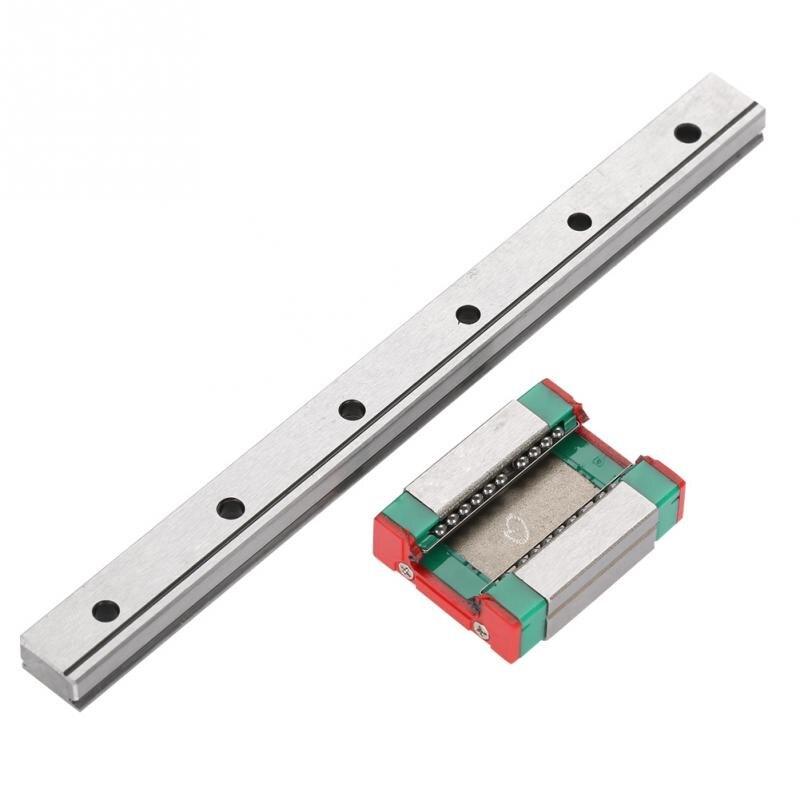 LML12B Miniature Linear Rail Guide 12mm Width with Slide Block Linear Motion Slide Rail 100/150/200/300/450mm Length