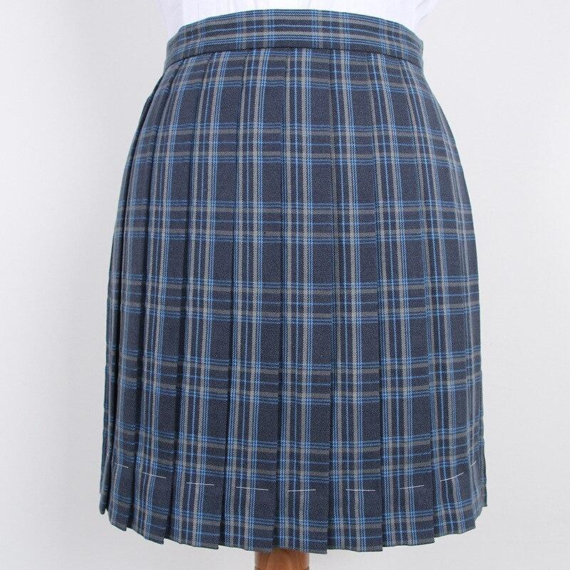 Hot Japanese Korean Version High Waist Short Skirts School Uniform Jk Girls A Word Half Skirt And Bow Tie Lattice Pleated Skirt