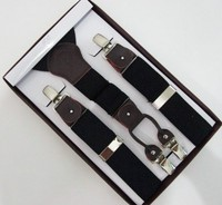 Free Shipping 2015 Hot Sale 3 5 Cm Width Adjustable Four Clip On Man Black Real