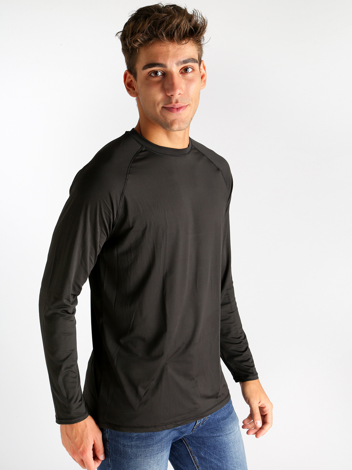 Technical Fabric Long Sleeve T Shirt