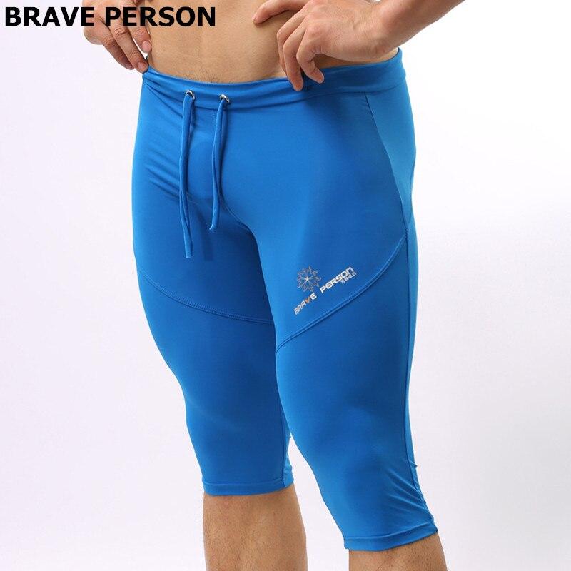 BRAVE PERSON Multiple Uses   Shorts   Men Elastic Tight   Board     Shorts   Knee-length Beach Wear Trunks   Shorts   B2221