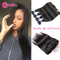 Ms Lula Hair with Frontal and Bundles 8A Virgin Malaysian Straight Hair 3 Bundles with Fontal Closure 13x4 Ear to Ear Closure