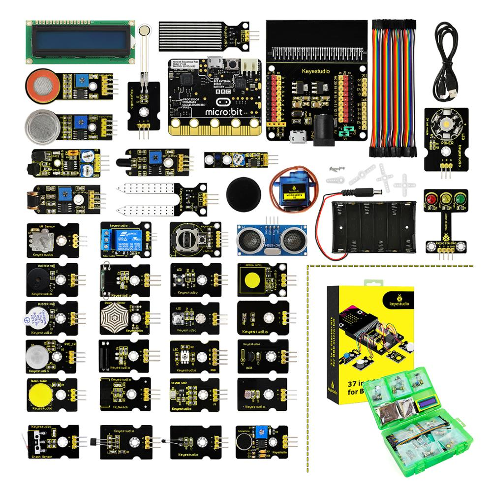Keyestudio 37 In 1 Sensor Starter Kit With Micro:Bit Board For BBC Micro:Bit DIY Projects