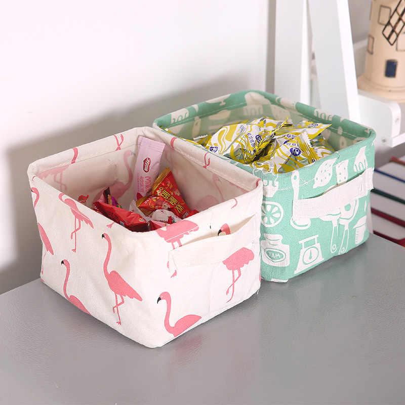 Multi-função à prova d' água Empilhável Linho armazenamento barrel Brinquedo cesto de roupa suja conjunto de ferramentas criativas La caja de organização housekeeping