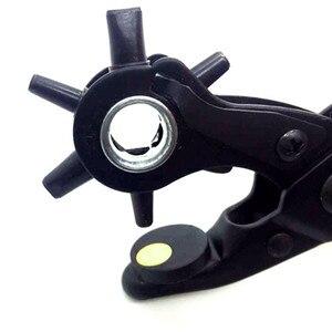 Image 5 - חדש כבד החובה רצועת עור חור אגרוף יד Plier חגורת אגרוף מסתובבת DIY כלים HG99