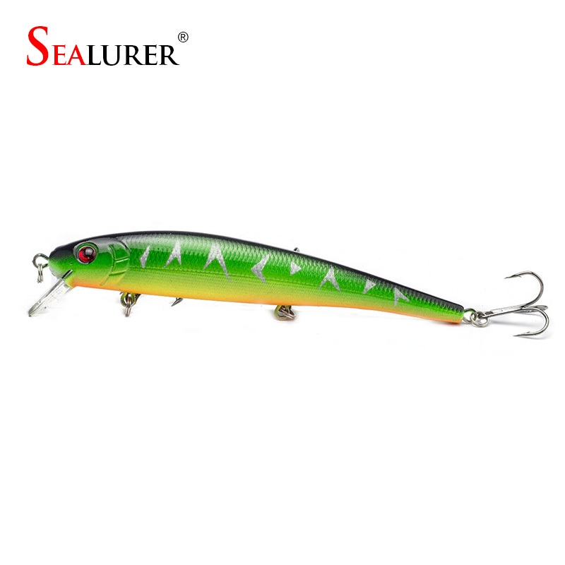 Sealurer Brand Lifelike Minnow Fishing Lure 13CM 19G Wobbler Carp Crankbait Artificial Japan Pesca Hard Bait Fishing Tackle sealurer fishing lure minnow hard bait pesca floating wobbler 8cm 7 5g isca carp crankbait jerkbait 5colors 1pcs lot