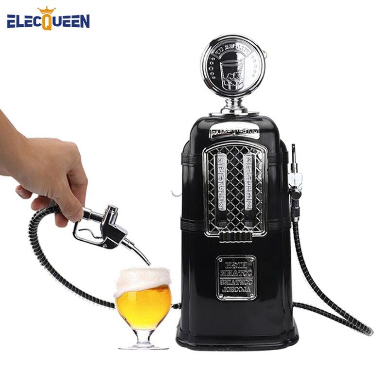Double Guns Liquor Pump Gas Station Black Beer Dispenser Alcohol Liquid Soft Drink Beverage Dispenser Machine Bar Beer Tools