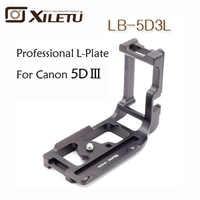 Xiletu LB-5D3L Speciale Professionale Piastra A Sgancio Rapido L Staffa Treppiede e Testa A Sfera Per Canon 5D3 III 5D4 IV Akai standard di 38mm
