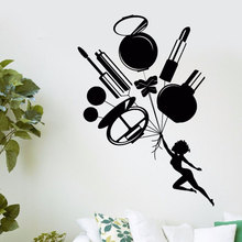 Przybory kosmetyczne naklejki ścienne uroda naklejki ścienne naklejki ścienne winylowe salon kosmetyczny plakat na ścianę naklejki MLY12
