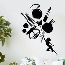아름다움 도구 벽 데칼 아름다움 벽 스티커 비닐 벽 스티커 살롱 뷰티 숍 포스터 벽 스티커 mly12