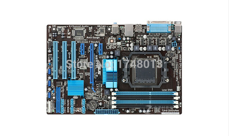 Free shipping original motherboard for M5A78L LE DDR3 Socket AM3 AM3+ boards 32GB 760G Desktop motherborad