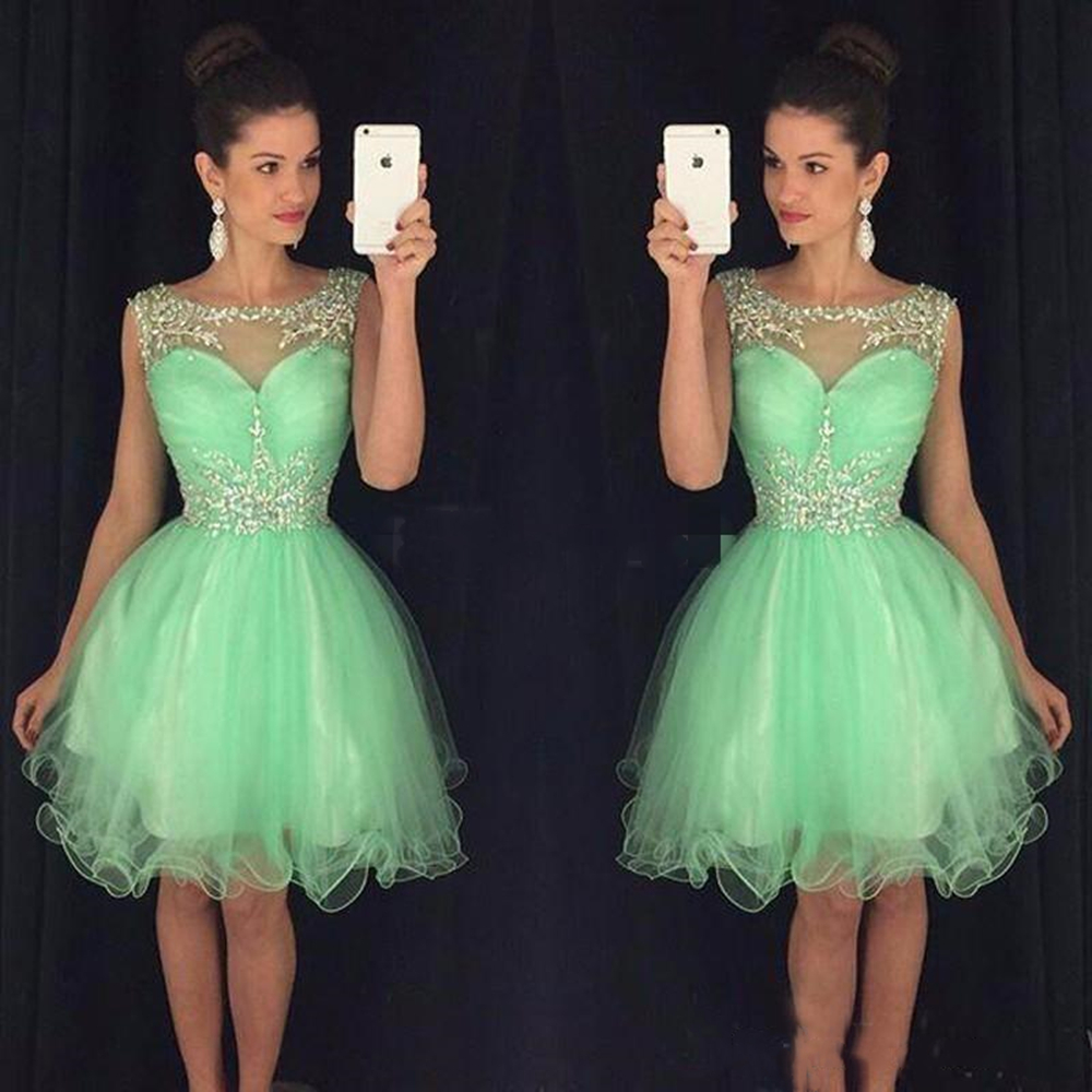 2019 Mini Short   Cocktail     Dresses   Crystal Beaded Sweet 16 Graduation   Dresses   Little Chiffon Short Prom Party   Dress