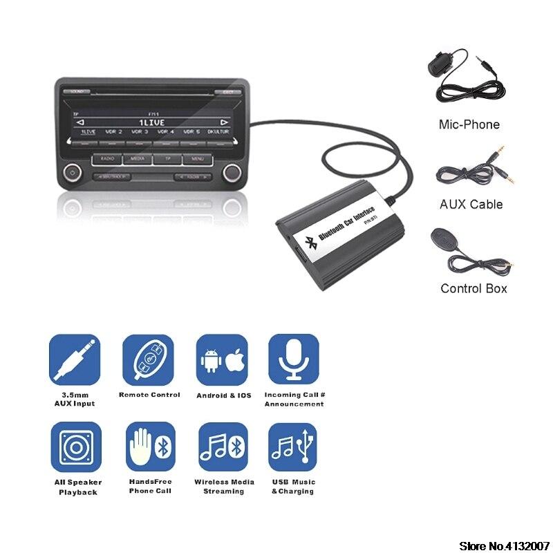 Kit mains libres Bluetooth pour voiture Interface adaptateur MP3 AUX pour Mazda 3 5 6 RX8 SPD 828 Promotion - 3
