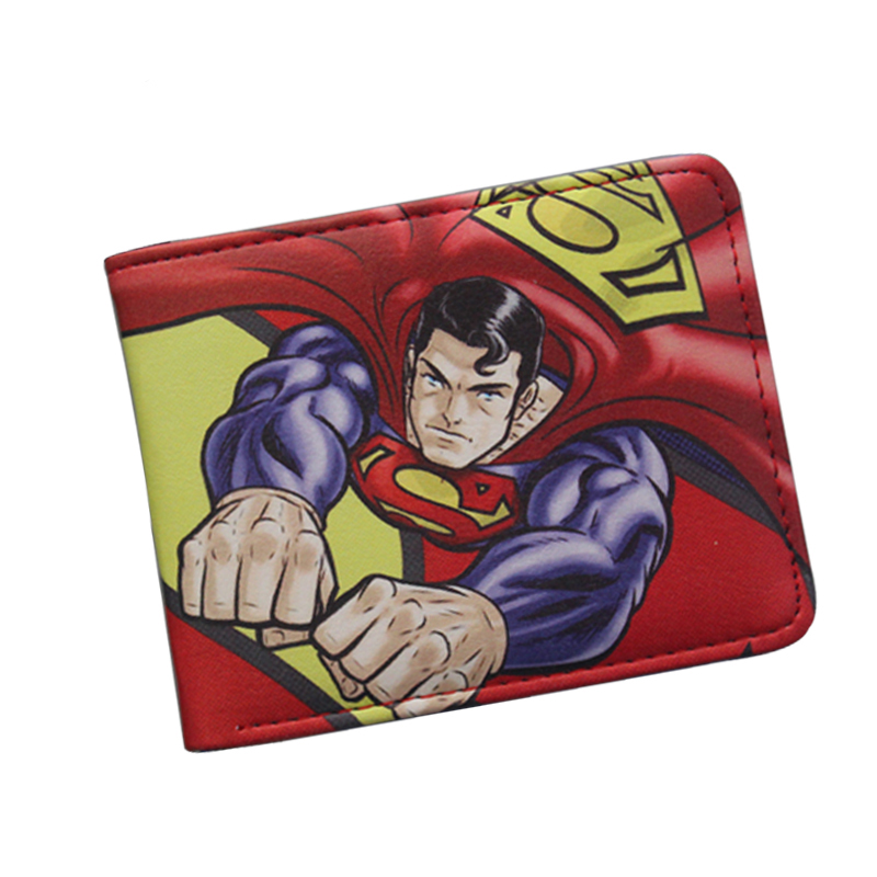 Hot Movie Superman Series Anime Wallet The Avengers Super Hero Wallet For Boys Girls Cartoon Purse Bilfold Short Supermen Wallet hot for the holidays
