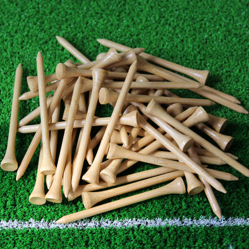 2017 New Hot Sale bamboo golf tee 83mm 100Pcs/pack Golf Tees,Free Shipping