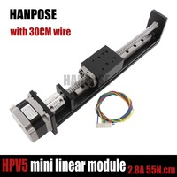 NEW!!!HPV5 Mini actuator Linear module ballscrew sfu1204 with NGM 42motor NEMA23 HS4128 stepper motor forReprap 3Dprinter