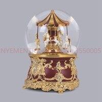 music Box Music box Crystal ball Carousel Send girls and children birthday gifts Snow creative 3PCS