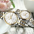 Парные часы для влюбленных Роскошные OLEVS брендовые кварцевые наручные часы модные водонепроницаемые мужские и женские наручные часы erkek kol ...