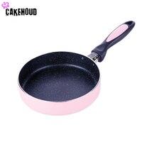 CAKEHOUD 18cm Straight Edge Frying Pan Pan Bottom Non Stick Pan Medical Stone Frying Pan Light