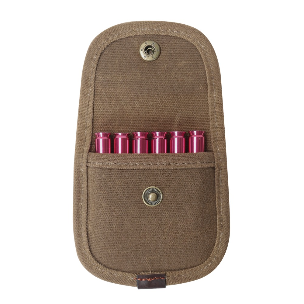 Tourbon Hunting Accessories Canvas & Leather Ammo Pouch Wallet Cartridge Holder Tactical Rifle Stock Bandolier