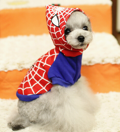 Free Shipping Superman Spiderman Batman pet small dog clothes clothing for dogs roupas caes de cachorro costume coat