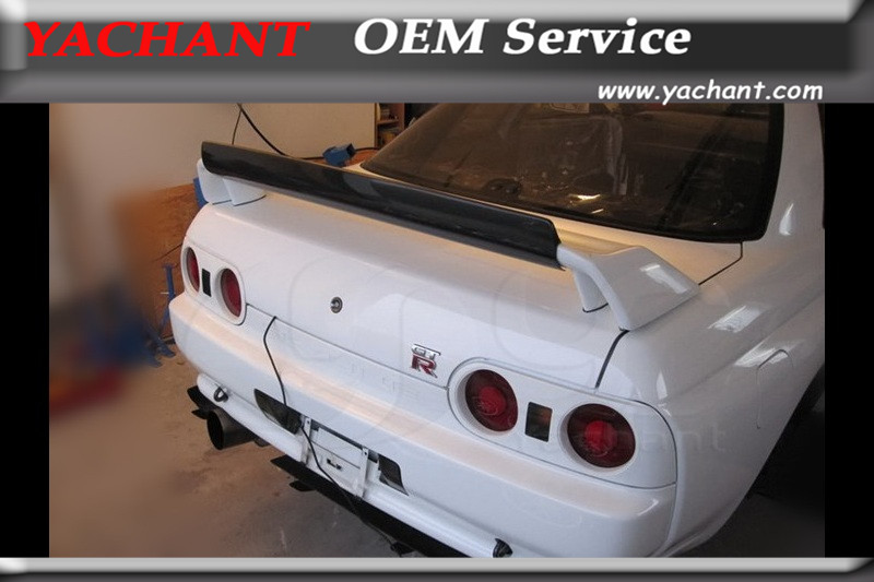 Car Styling Carbon Fiber FRP Rear Wing Fit For 89 94 Skyline R32 GTR OEM Rear