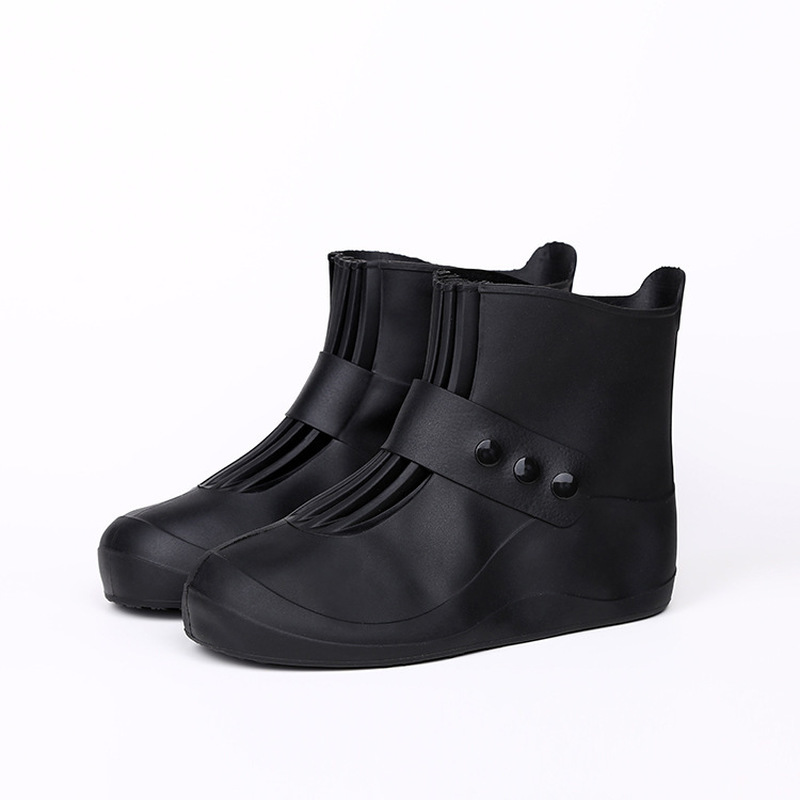 Waterproof Rain Boot Shoe Cover Reusable Overshoes Non Slip Galoshes With Elastic PVC Material