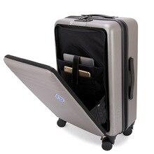 """Фирменная Передняя открывающаяся тележка чемодан стильный чемодан с мезонином Дорожный чемодан-тележка для компьютера ноутбук 2"""" 22"""" 2"""" дюймов"""